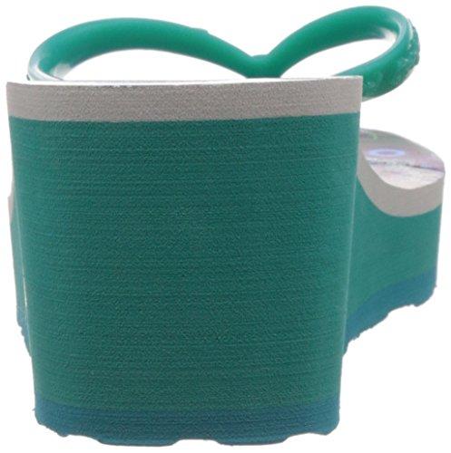Desigual Lola - Sandalias de cuña Mujer Verde Agua