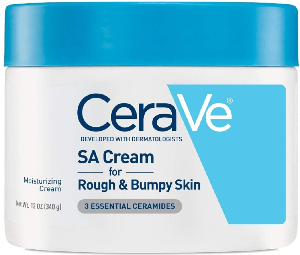 CeraVe SA Cream | 12 Ounce | Renewing Salicylic Acid Body Cream for Rough and Bumpy Skin | Fragrance Free by CeraVe