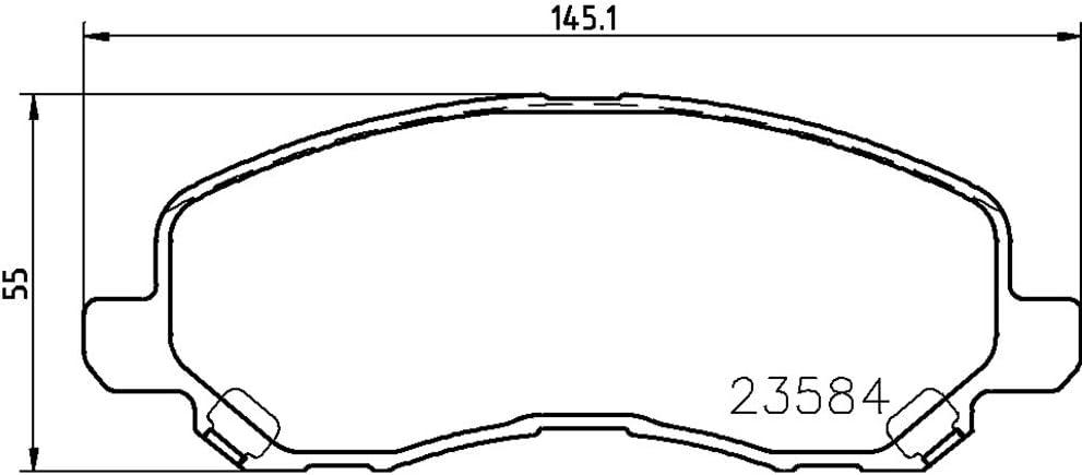 HELLA PAGID 8DB 355 009-671 Kit pastiglie freno Assale anteriore Freno a disco