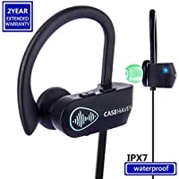 Bluetooth Headphones, Wireless Sports Earphones Headset W/ Mic IPX7 Waterproof HD Stereo Sweatproof Earbuds for Gym Running Workout Noise Cancelling Headsets With SIRI For iPhone & Android