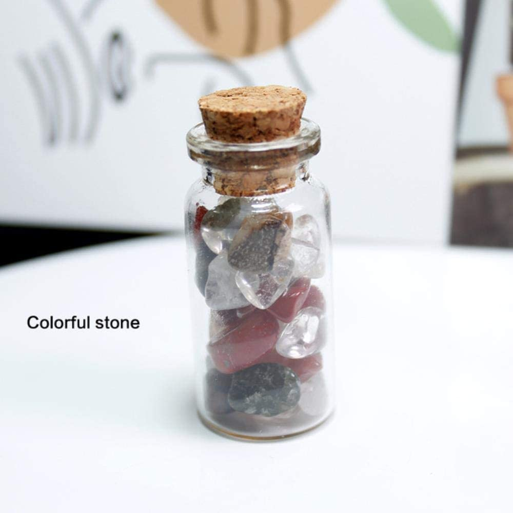 SDJH 17 Tipos Cristal de Cuarzo Natural Piedra Cristal Grava Botella de Deseos Piedra Preciosa Piedras de Cuarzo Natural Chip Mineral, Piedra Colorida