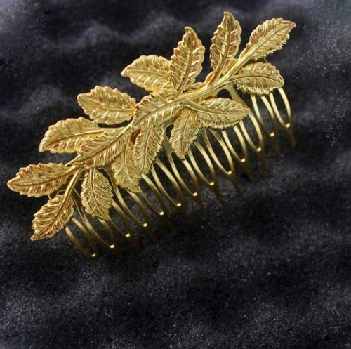 Gold shiny Laurel Leaf crown Leaves hair comb greek toga roman costume athena AG get 1 pcs crown -