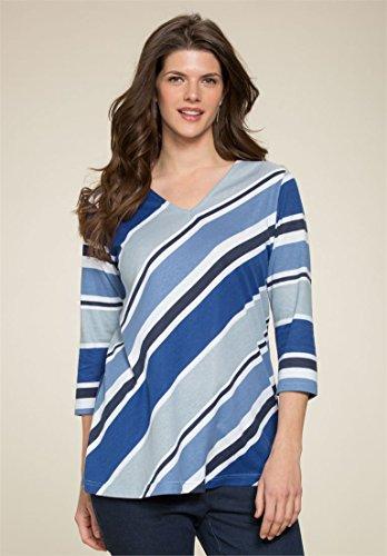 Roamans-Womens-Plus-Size-Diagonal-Stripe-Tee