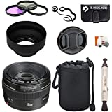 Canon EF 50mm f/1.4 USM Standard & Medium Telephoto Lens for Canon SLR Cameras + Pouch + Filter Kit + Lens Cleaner + Digital Camera Lens Accessories Bundle