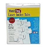Redi-Tag 39017 Laser Printable Index Tabs 1 1/8 x 1 1/4 White 375/Pack
