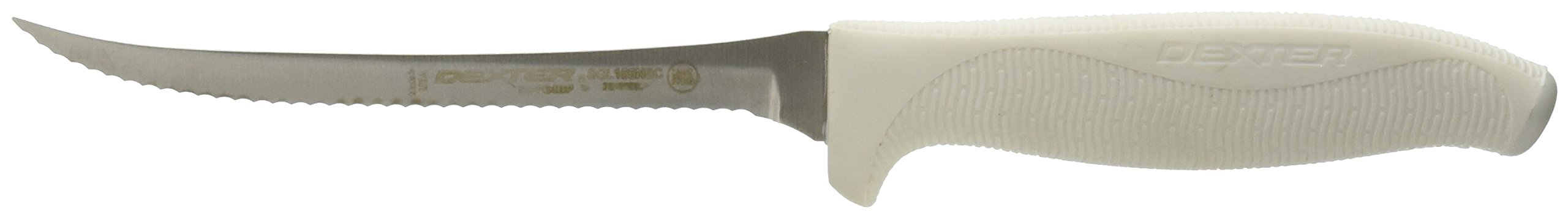 Dexter Russel SYNCHKG011671 Scalloped Utility Slicer, 5.5'', White by Dexter Russel