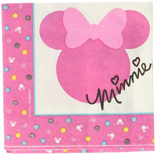 1st Birthday Minnie Mouse Beverage Napkins 16 count Party Supplies Minnie Fun to be (Minnie Mouse Napkins)