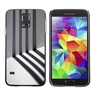 TopCaseStore / la caja del caucho duro de la cubierta de protección de la piel - Prison Alone Stripes Minimalist - Samsung Galaxy S5 SM-G900