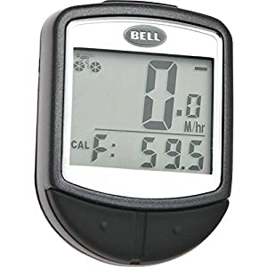 Bell Console 200 Digital Wireless 15 Function Cyclocomputer, Black, Black