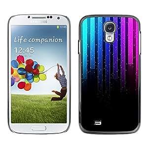 LECELL -- Funda protectora / Cubierta / Piel For Samsung Galaxy S4 I9500 -- Music Neon Graph --