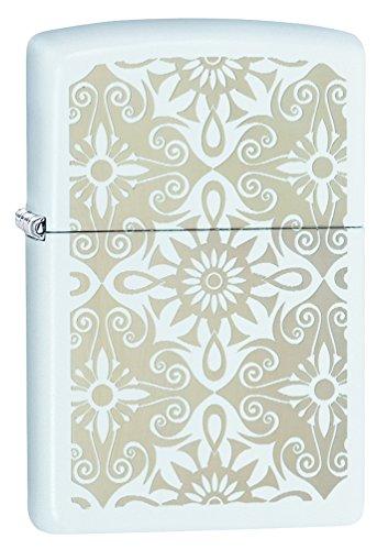 Zippo Classical Curve Pocket Lighter, White Matte
