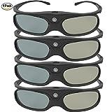 DLP Link 3D Glasses, GooDee Ultra-Clear HD 144 Hz 3D Active Rechargeable Shutter