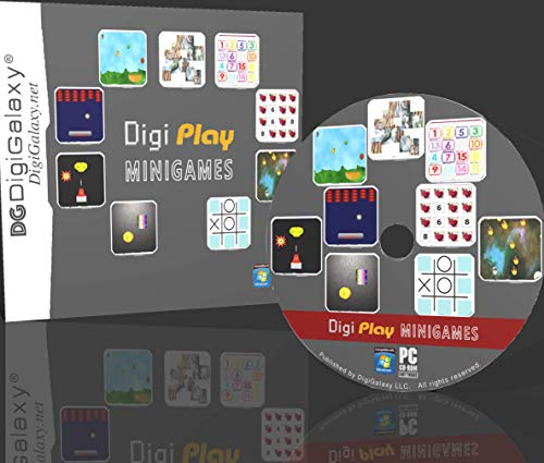 DigiPlay - Mini Games - Action, Board, Puzzles, Memory (PC Game) (Windows10 Compatible) (Puzzle Games For Computer)