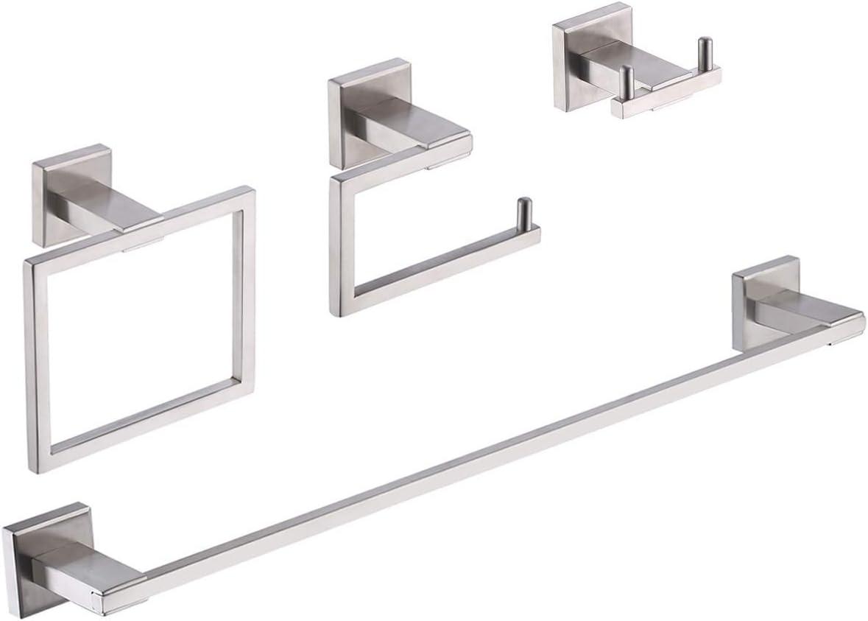 KES Baño 4 Piezas Hardware Set Accesorios SUS 304 Acero Inoxidable Montaje en Pared, Cepillado, LA242-42