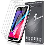 LK [3 Pack] Screen Protector for iPhone 8 Plus, [Tempered Glass][Case Friendly] DoubleDefence [Alignment Frame Easy Installation] with Lifetime Replacement Warranty