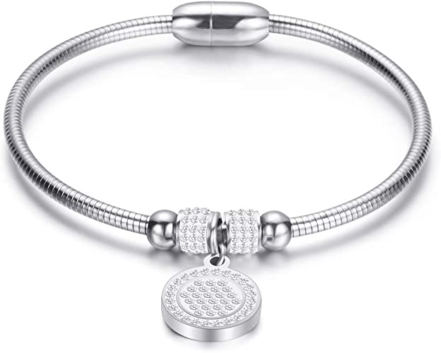 Fashion Love Hollow Heart Bangle Bracelet Charmed Girl Popular Jewelry Silver Plated