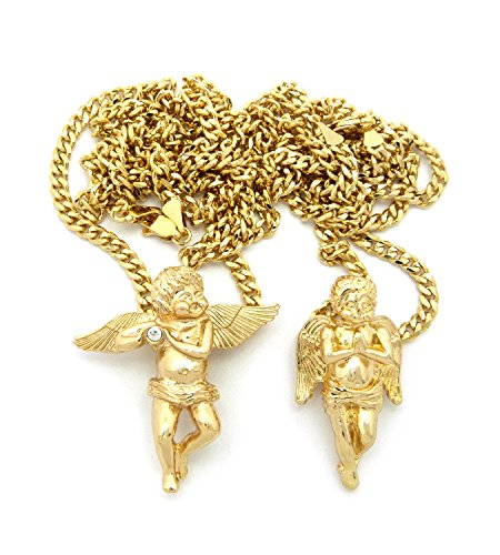 (Fashion 21 Gold Tone Micro Baby Angel Pendant 24