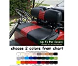 E-Z-Go TXT Custom Golf Cart Front Seat Cover Set PLUS Rear Seat Cover Set Combo - ONE STRIPE STAPLE ON