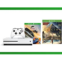 Xbox One S 500GB Console - Forza Horizon 3 Hot Wheels Console Bundle + Assassin's Creed Origins + WWE 2K16 Bundle ( 3 - Items)