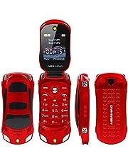 F15 Mini Flip mobiele telefoon ondersteunt Dual SIM-kaarten GSM ontgrendeld rood