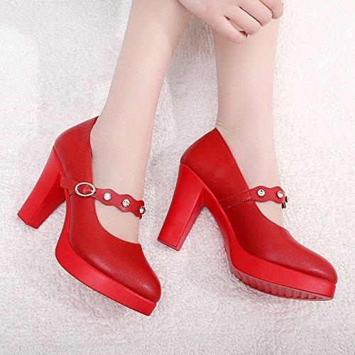 impermeable zapatos T Tacones Jqdyl grueso plataforma mujeres modelo con Plataforma Red pasarela impermeable etapa rojo Cheongsam vEvqOdw