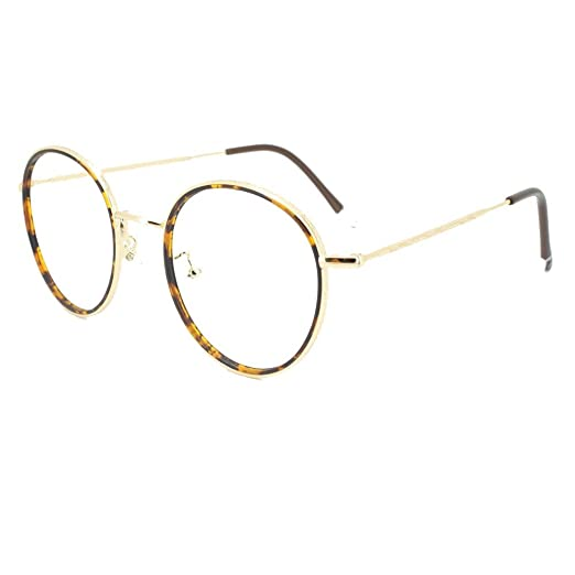 b552d37600 Amazon.com  EyeBuyExpress Bifocal Prescription Mens Womens Tortoiseshell  Gold Round Reading Glasses Anti Glare Quality +3.00  Health   Personal Care