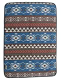 RUTH&BOAZ Outdoor Wool Blend Blanket Ethnic Inka Pattern(K) (Blue for Pets, for Pets)