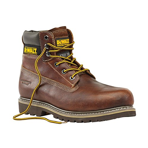 DeWalt Platine avec cousu de sécurité bottes marron clair Taille 11