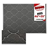 Cosyearn Large Door Mats,47x36 Inches XL Jumbo Size Outdoor Indoor Entrance Doormat, Waterproof, Easy Clean, Entryway Rug, Front Doormat Inside Outside Non Slip. (Grey)
