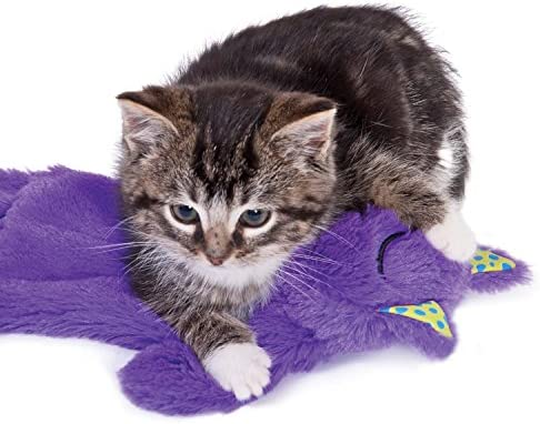 Petstages Purr Pillow Cat Toy For Nightime Play & Calm Comfort Featuring Soothing Noisemaker, Soft Plush Material, Medium, Purple 3