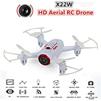 BDKJ New Dual control RC Helicopter X22w Wifi FPV Real Time Transmission RC Quadcopter Drone Headless Hover attitude hold With Camera