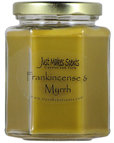 (Just Makes Scents Frankincense & Myrrh Scented Blended Soy Candle (8 oz) )