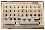 Gage Block Set in Wood Box, +/-.000050'' Accuracy, 81 Piece