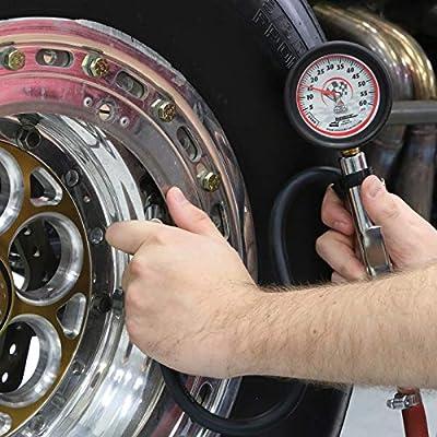 Longacre 52009 Deluxe Quick Fill Tire Gauge 0-60 psi: Automotive