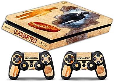 Skin PS4 SLIM HD - UNCHARTED STORY - limited edition DECAL COVER ADHESIVO playstation 4 SLIM SONY BUNDLE: Amazon.es: Videojuegos