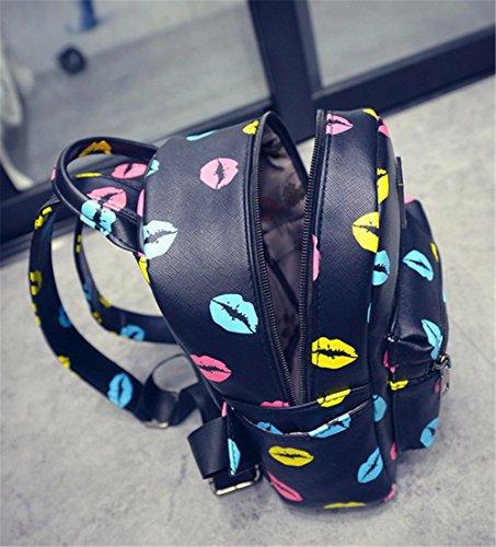 TELLW - Bolso mochila  para mujer multicolor Love 21*11*24cm Love