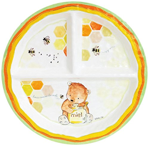 baby-cie-doux-comme-du-miel-sweet-as-honey-round-textured-sectioned-plate-multicolor