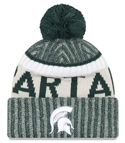 new product 5ee93 47801 New Era Michigan State Spartans Onfield Sport Pom Knit Beanie Hat Cap