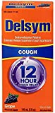 Delsym Adult 12 Hr Cough Relief Liquid, Grape, 5oz - Pack of 6