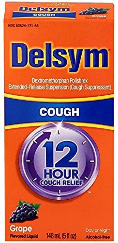 Delsym Adult 12 Hr Cough Relief Liquid, Grape, 5oz - Pack of 6