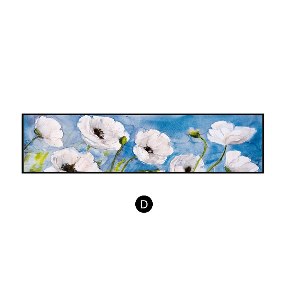 STTS Modern decorative painting, sofa background wall, rectangular bedroom painting, vintage American flower framed bedside painting,B,40120 by STTS