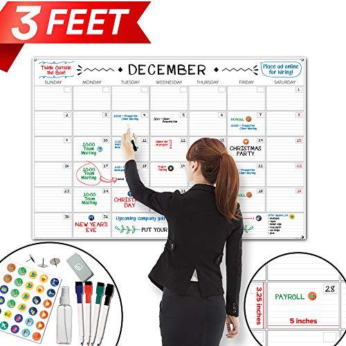 - X Large Dry Erase Wall Calendar - 24