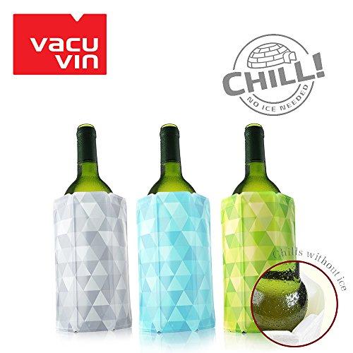 Vacu Vin Rapid Ice Wine Cooler - Set of 3 - Diamond Green, Blue, and (Vacu Vin Gift)