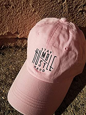 TheMonsta Humble Stay Hard Logo Style Dad Hat Washed Cotton Polo Baseball  Cap 4e1f28f7b68f