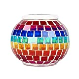 Mochiglory Solar Powered Mosaic Glass Ball Light LED Garden Lamp Color Changing Decoration Led Lighting