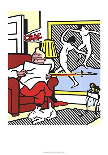 Roy Lichtenstein Lithograph - Roy Lichtenstein-Tintin Reading-1995 Poster