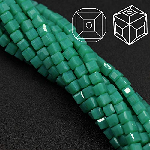 Cell's world - Hot Fashion 100Pcs/lot Craft Supplies 3mm Square Faceted Crystal Beads Glass Cube Loose Chinese Beading Chunky Necklace Beads