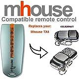 Mhouse TX4 Compatible Télécommande, 4 canaux 433,92Mhz rolling code remplacement emetteur de haute qualité pour LE MEILLEUR PRIX!!!