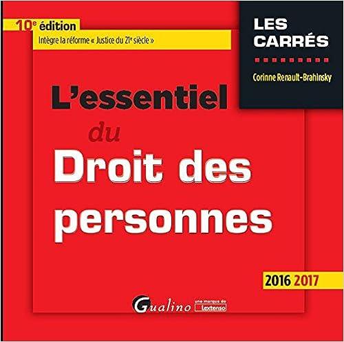 En ligne téléchargement gratuit L'essentiel du droit des personnes 2016-2017 pdf, epub