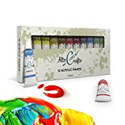 Amazon Lightning Deal 70% claimed: Acrylic Paint Set - Artist Quality Acrylic Paints for Painting Canvas, Wood, Clay, Fabric, Nail Art, Ceramic & Crafts - 12 x 12ml Vibrant Colors - Professional Art Supplies by Alto Crafto